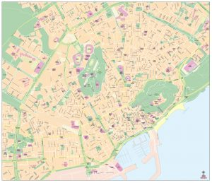 Mapa vectorial de Alicante illustrator eps editable Alacant