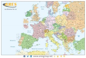 Mapa Europa códigos postales Ares Group