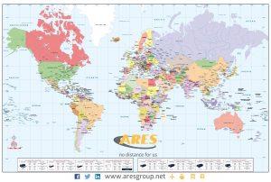 Mapamundi personalizado Ares Group