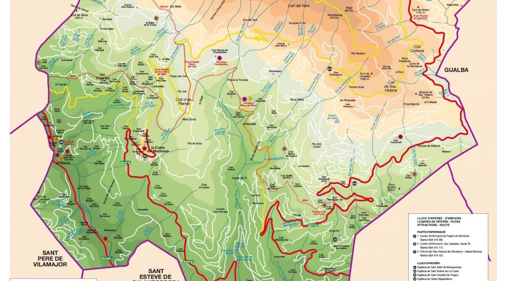 Mapa Fogars de Montclus cara