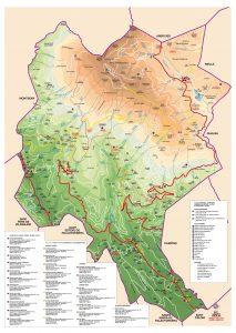 Mapa municipi de Fogars de Montclus