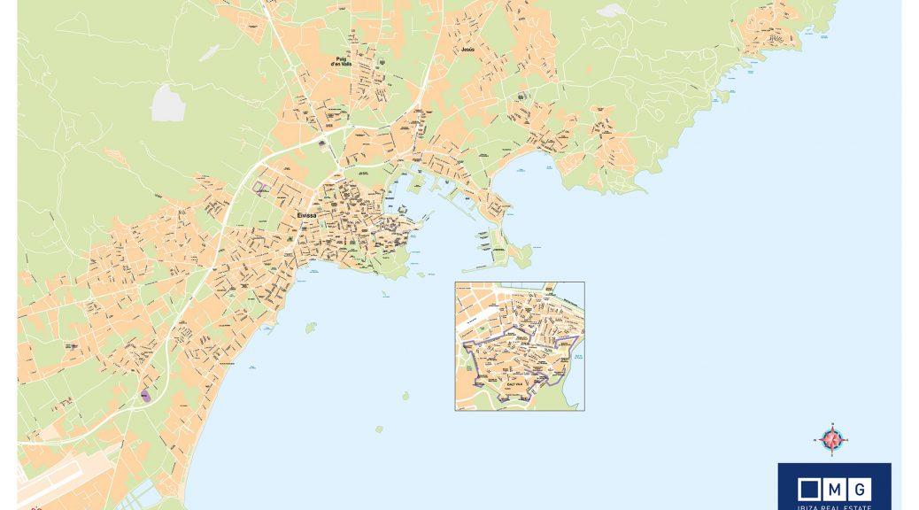 Mapa mural ciudad de Ibiza Mg