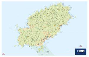 Isla de Ibiza mapa mural Mg