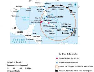 Mapa historico crisis de los misiles