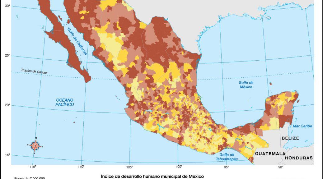 Mapa libro texto Mexico IDH