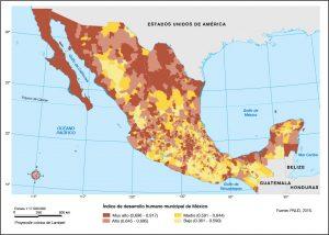 Mapas temáticos libro de texto Mexico IDH