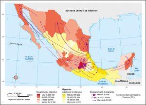 Mapas migraciones Mexico