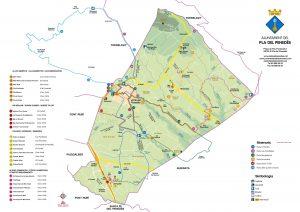 BC Maps mapa municipio El Pla del Penedes vectorial illustrator eps