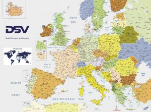 DSV 2021 Lt Europe postal code map