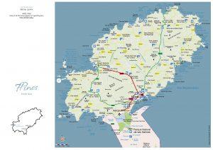 Mapa Ibiza Eivisa 7 Pines 2021