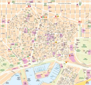 Mapa vectorial illustrator eps Barcelona zoom Busplus