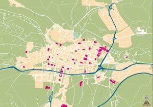 Mapa vectorial illustrator eps Logroño