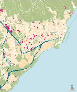 Mapa vectorial illustrator eps Santa Cruz de Tenerife