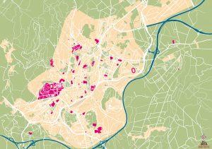 Mapa vectorial illustrator eps Santiago