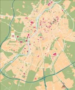 Mapa vectorial illustrator eps Valladolid