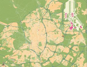Mapa vectorial Madrid Castellana Norte