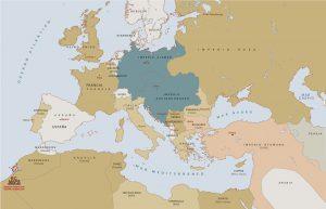 Mapa historico vectorial Europa 1914