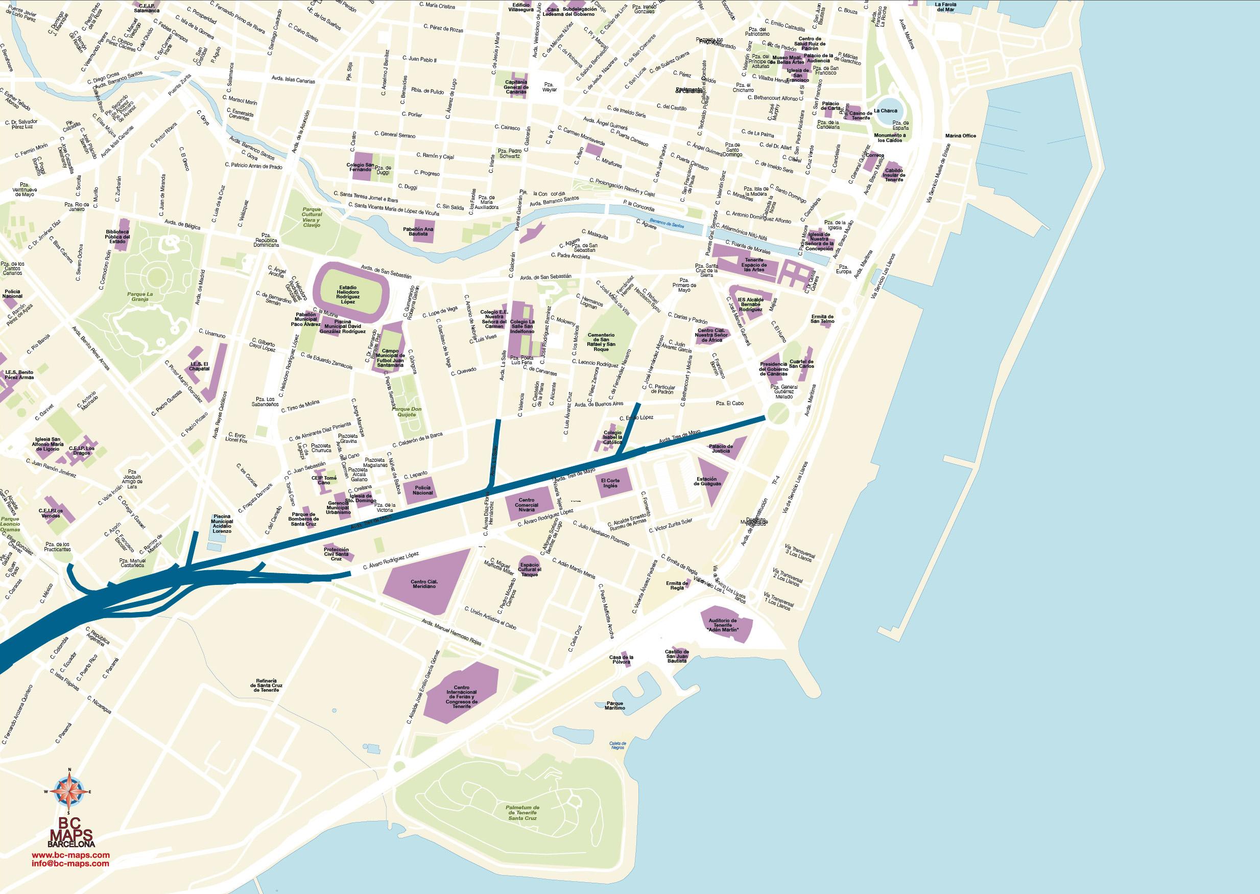 Santa Cruz De Tenerife Planos Y Mapas Vectoriales