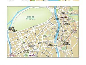 Girona mapa vectorial illustrator eps Viva Tours