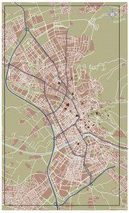 Granada mapa vectorial illustrator eps