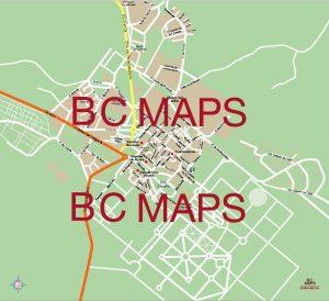 La Granja mapa vectorial illustrator eps