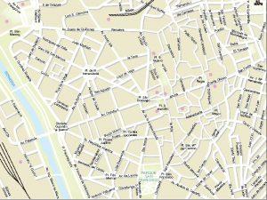Leon mapa vectorial illustrator eps centro
