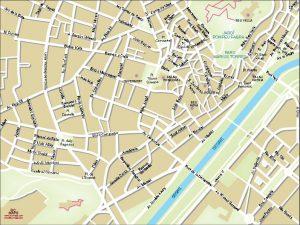 Lleida mapa vectorial illustrator eps centro