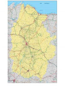 Lugo mapa vectorial illustrator eps provincia 200