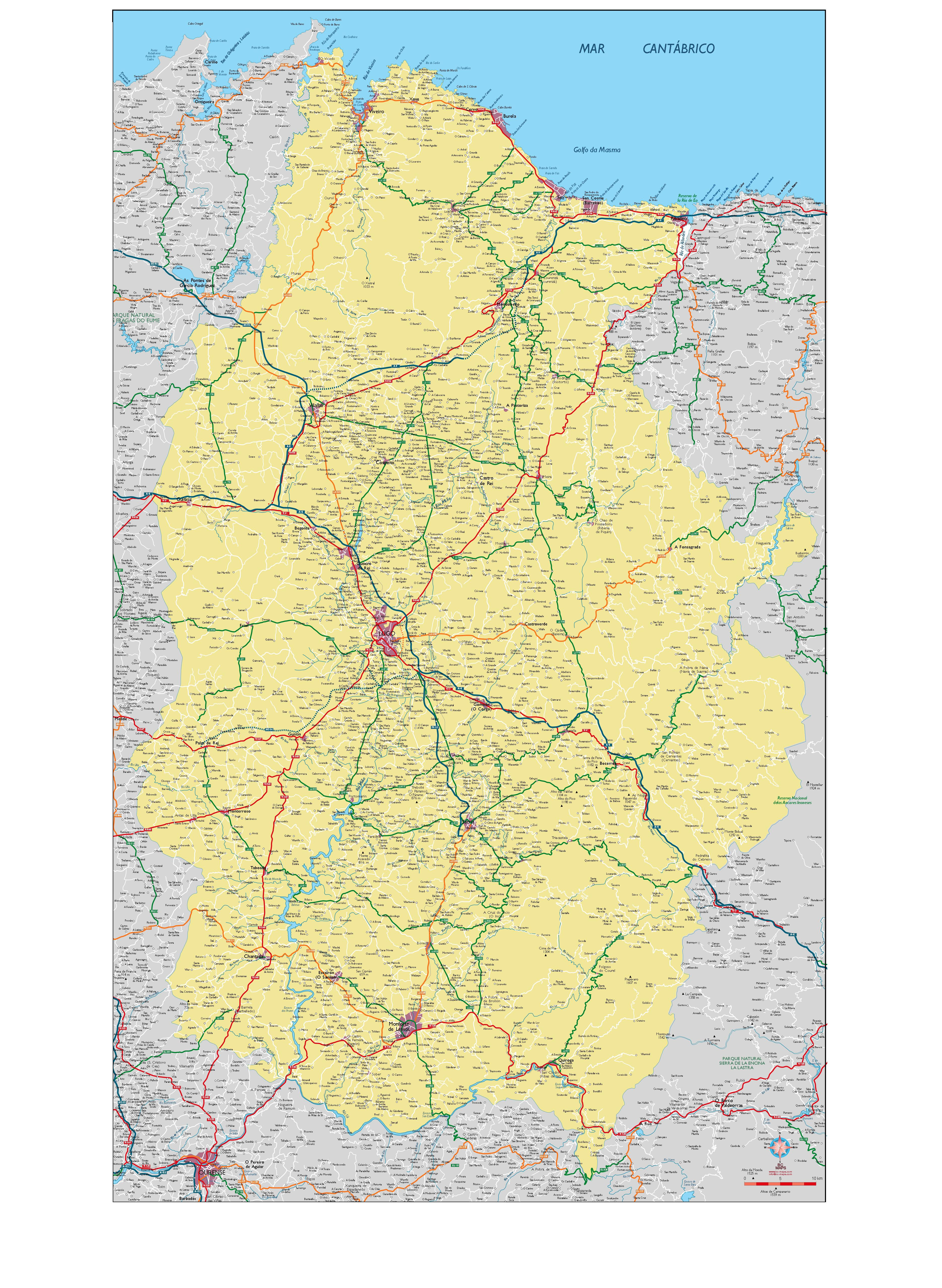 Lugo Mapa Vectorial Illustrator Eps Provincia 200 Bc Maps Mapa