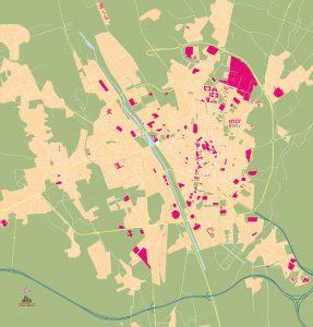 Leon mapa vectorial illustrator eps mudo