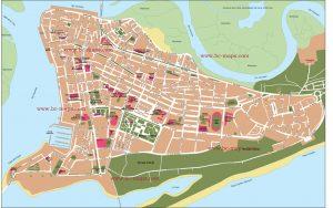 isla Cristina mapa vectorial illustrator eps