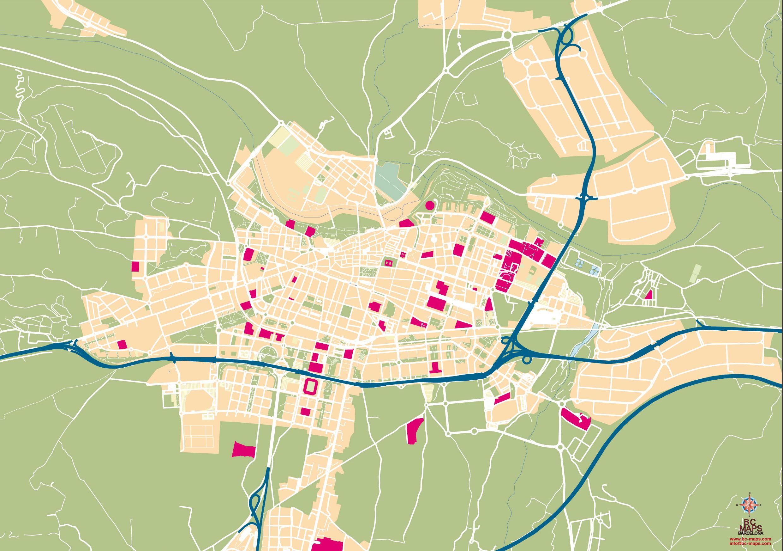Logrono Mapa Vectorial Illustrator Eps Formato Editable Bc Maps