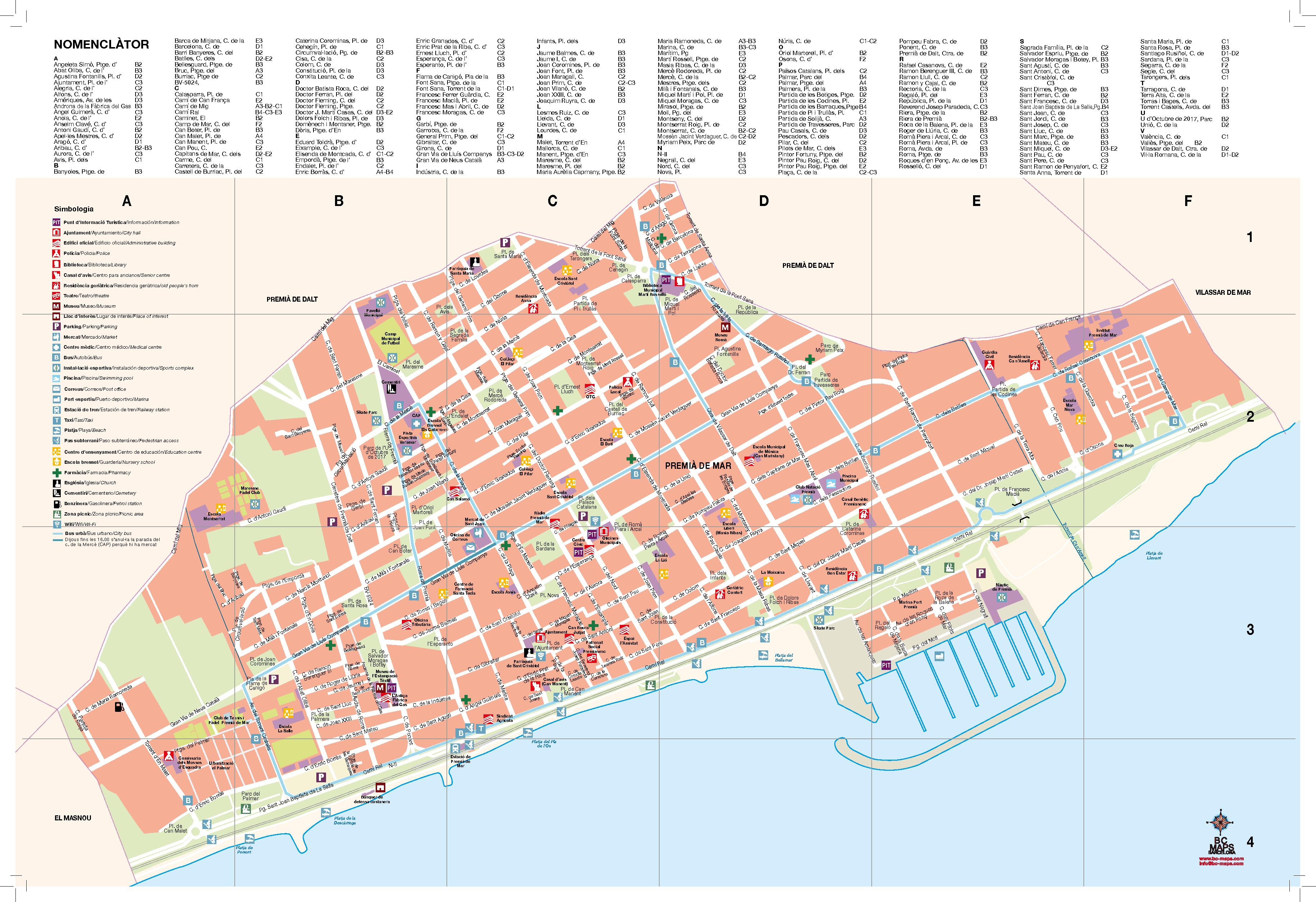 Premia De Mar Mapa Per L Ajuntament Maresme Barcelona