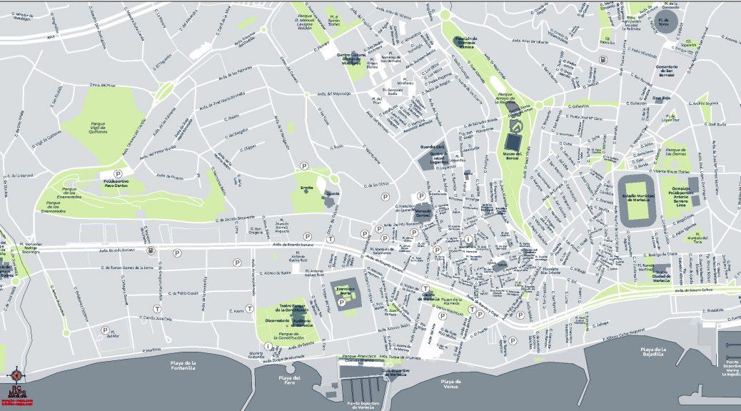 Mapa Marbella vectorial illustrator eps