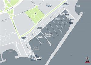 Mapa Puerto Banus vectorial illustrator eps