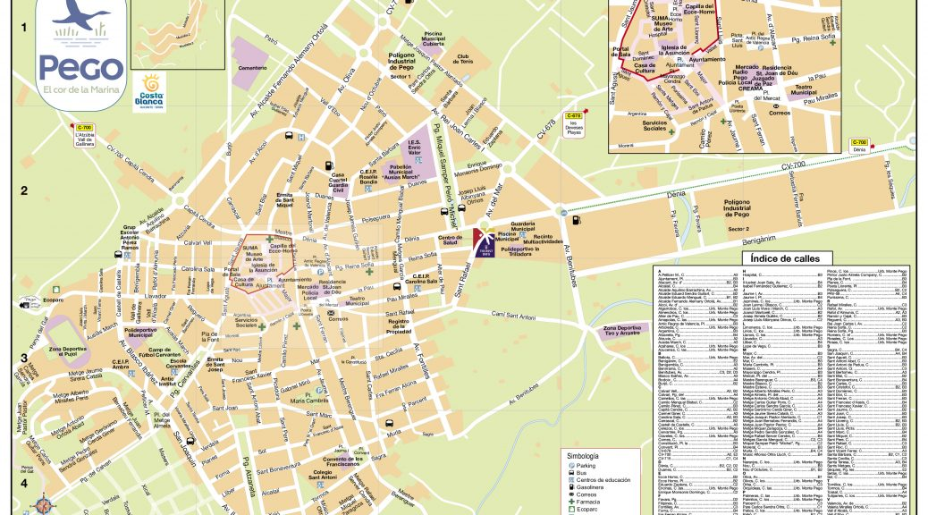 Mapa Pego 2019 casco urbano