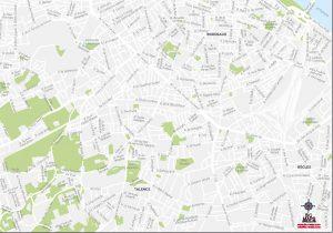 Carte vectorielle illustrator eps Talence Pichet 2021
