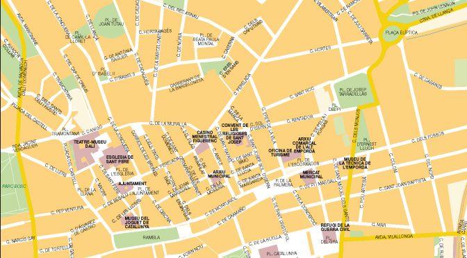 Figueres mapa vectorial illustrator eps