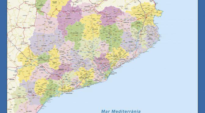 Mapa mural Cataluña Stef