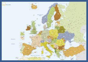 Mapa mural Europa Gefco