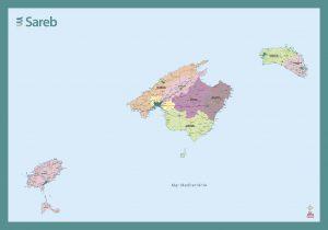 Mapa Mural Baleares Sareb 2019