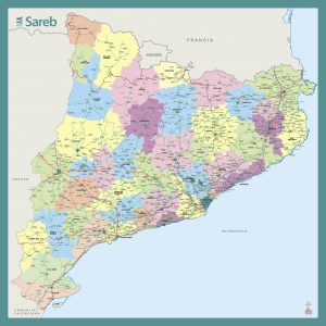 Mapa Mural Cataluña Sareb 2019