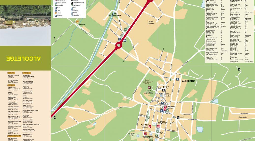mapa Ajuntament Alcoletge nucli urbà