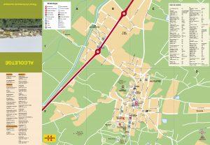 mapa Ajuntament d'Alcoletge nucli urbà