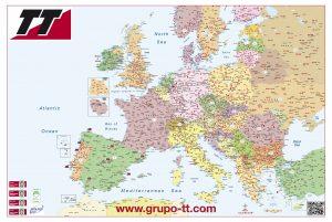 Mapa de Europa códigos postales sobremesa Grupo TT