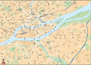 Nantes mapa vectorial illustrator eps