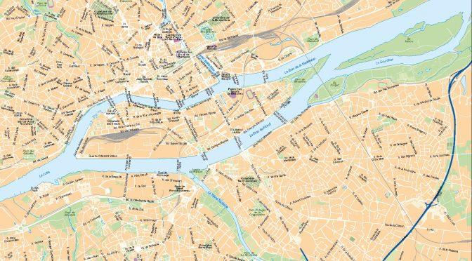Nantes mapa vectorial illustrator eps