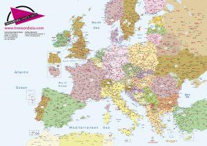 Mapa Europa códigos postales sobremesa A2 Transordizia
