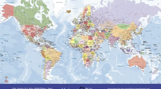 Mapamundi politico puertos Uniport 2021