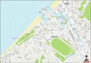 Deauville carte vectorielle illustrator eps Pichet 2021